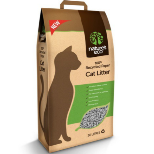 Nature's Eco, Cat Hygiene, Litter, Recycled Paper Cat Litter (2 Sizes)