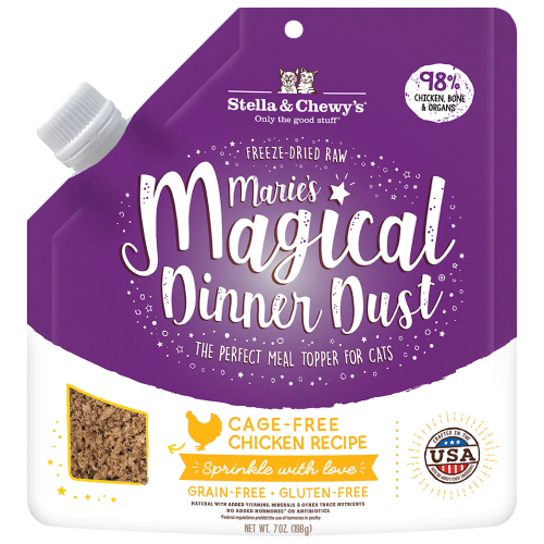 Stella & Chewy's, Cat Food, Meal Mixers, Freeze Dried, Marie's Magical Dinner Dust, Cage-Free Chicken