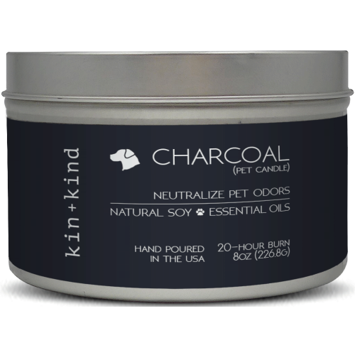 Kin+Kind, Dog & Cat Hygiene, Others, Charcoal Pet Odour Neutralising Candle