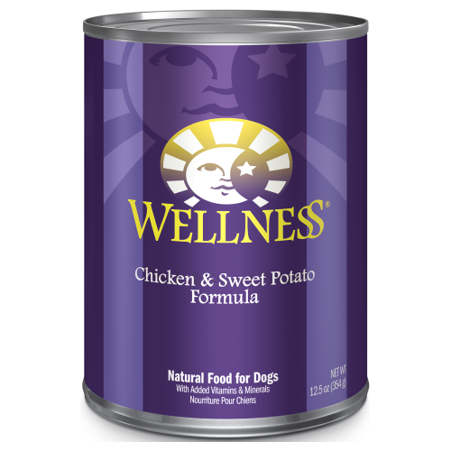 Wellness Complete Health, Dog Wet Food, Pate, Chicken & Sweet Potato