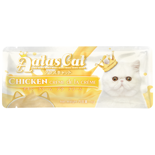 Aatas Cat, Cat Treats, Crème de la crème, Chicken (By Carton)