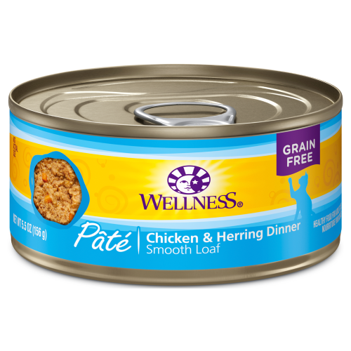 Wellness Complete Health, Cat Wet Food, Grain Free, Pate, Chicken & Herring