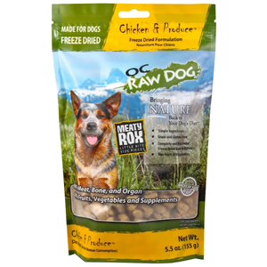 OC Raw, Dog Food, Mixers & Toppers, Freeze Dried, Meaty Rox, Chicken