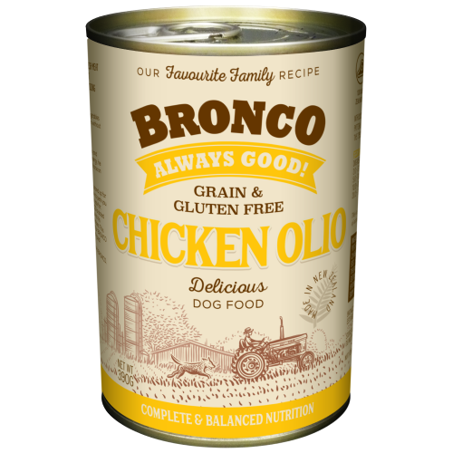 Bronco, Dog Wet Food, Grain Free, Olio Chicken