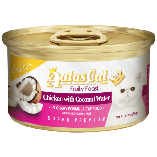 Aatas Cat, Cat Wet Food, Finest Fruity Feast, Chicken with Coconut Water in Gravy (By Carton)