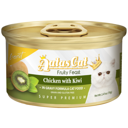 Aatas Cat, Cat Wet Food, Finest Fruity Feast, Chicken with Kiwi in Gravy (By Carton)
