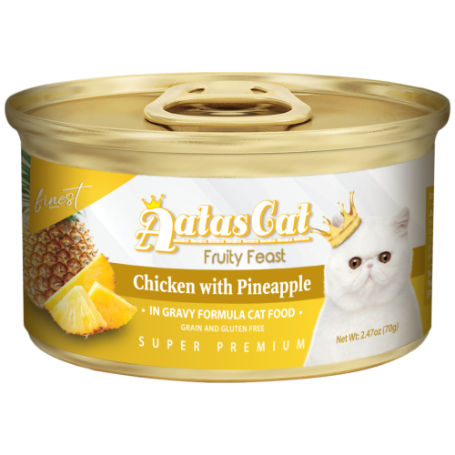 Aatas Cat, Cat Wet Food, Finest Fruity Feast, Chicken with Pineapple in Gravy (By Carton)
