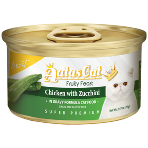 Aatas Cat, Cat Wet Food, Finest Fruity Feast, Chicken with Zucchini in Gravy (By Carton)