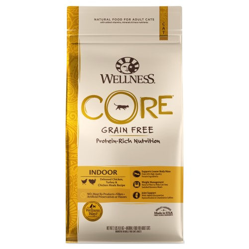 Wellness Core, Cat Dry Food, Grain Free, Indoor, Deboned Chicken, Turkey & Chicken Meals