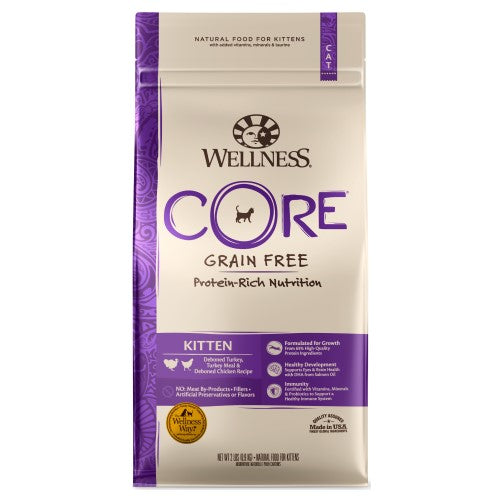 Wellness Core, Cat Dry Food, Grain Free, Kitten, Deboned Turkey, Turkey Meal & Deboned Chicken