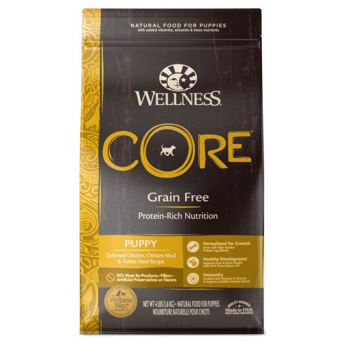 Wellness Core, Dog Dry Food, Grain Free, Puppy, Deboned Chicken, Chicken & Turkey Meal
