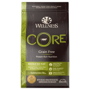Wellness Core, Dog Dry Food, Grain Free, Reduced Fat, Deboned Turkey, Turkey & Chicken Meal