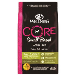 Wellness Core, Dog Dry Food, Grain Free, Small Breed, Healthy Weight, Deboned Turkey, Turkey & Chicken Meal