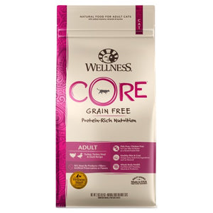 Wellness Core, Cat Dry Food, Grain Free, Turkey, Turkey Meal & Duck