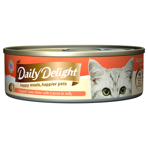 Daily Delight, Cat Wet Food, Jelly, Skipjack Tuna White with Carrot in Jelly