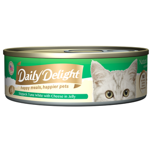 Daily Delight, Cat Wet Food, Jelly, Skipjack Tuna White with Cheese in Jelly (By Carton)