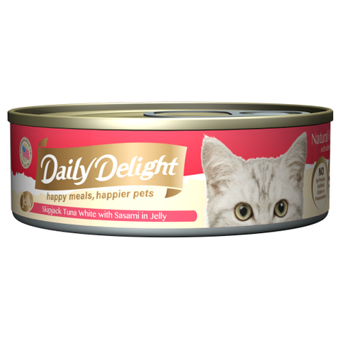 Daily Delight, Cat Wet Food, Jelly, Skipjack Tuna White with Sasami in Jelly