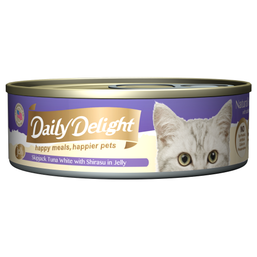 Daily Delight, Cat Wet Food, Jelly, Skipjack Tuna White with Shirasu in Jelly (By Carton)