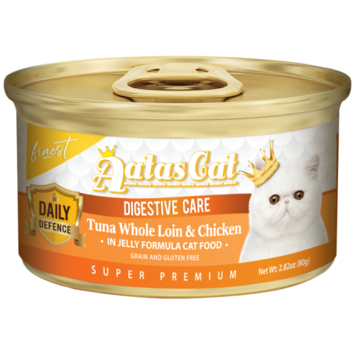 Aatas Cat, Cat Wet Food, Finest Daily Defence, Digestive Care, Tuna Whole Loin & Chicken (By Carton)