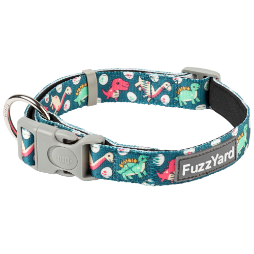 FuzzYard, Dog Collars & Harnesses, Dinosaur Land Collar (3 Sizes)