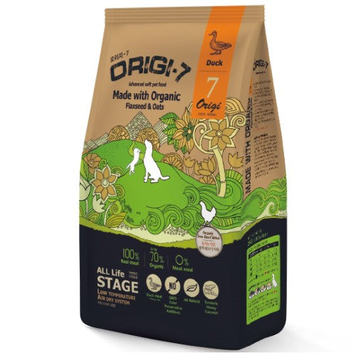 BowWow, Dog Dry Food, Origi-7, Air Dried, Organic, Soft Kibble, Duck