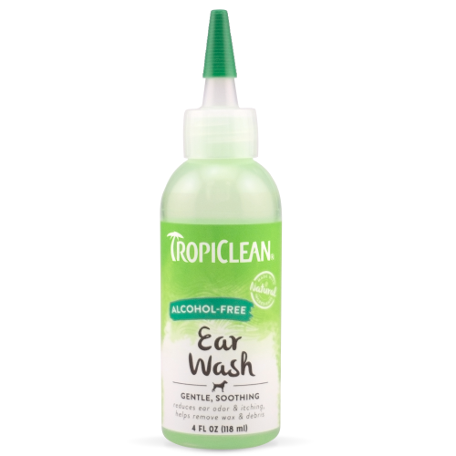 TropiClean, Dog & Cat Hygiene, Wipes & Ear Washes, Alcohol-Free Ear Wash