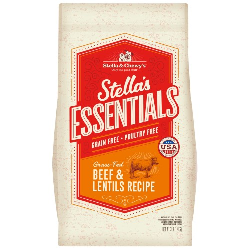 Stella & Chewy's, Dog Dry Food, Grain Free Kibble, Stella's Essentials, Grass-Fed Beef & Lentils (2 Sizes)