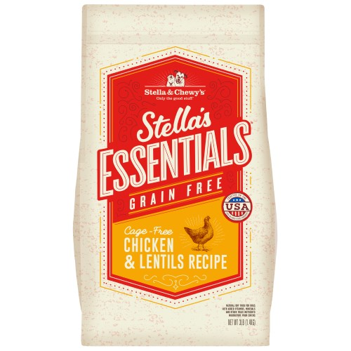 Stella & Chewy's, Dog Dry Food, Grain Free Kibble, Stella's Essentials, Cage-Free Chicken & Lentils (2 Sizes)