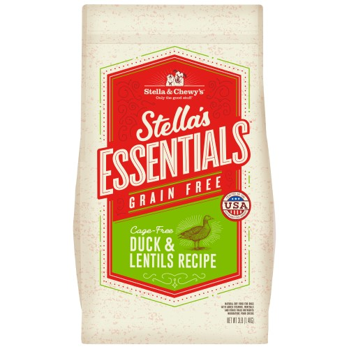 Stella & Chewy's, Dog Dry Food, Grain Free Kibble, Stella's Essentials, Cage-Free Duck & Lentils (2 Sizes)