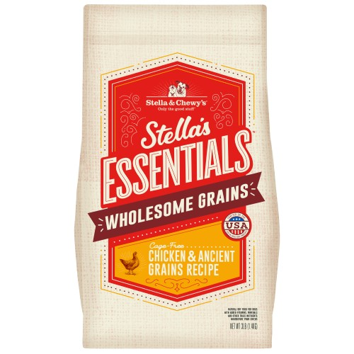 Stella & Chewy's, Dog Dry Food,  Wholesome Grain Kibble, Stella's Essentials, Chicken & Ancient Grains (2 Sizes)