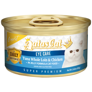 Aatas Cat, Cat Wet Food, Finest Daily Defence, Eye Care, Tuna Whole Loin & Chicken (By Carton)