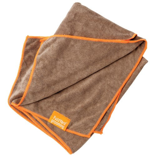 FuzzYard, Dog Hygiene, Others, Microfibre Drying Towel, Brown With Orange Trim