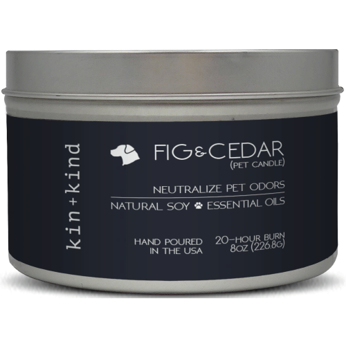 Kin+Kind, Dog & Cat Hygiene, Others, Fig & Cedar Pet Odour Neutralising Candle