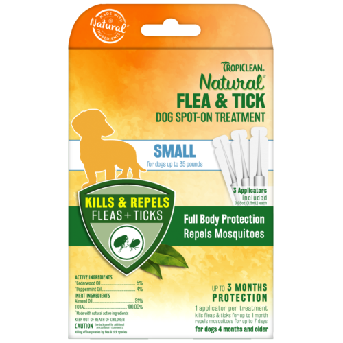 Tropiclean, Dog Healthcare, Flea & Tick, Natural Flea & Tick Spot On Treatment