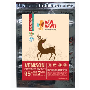 Raw Rawr, Dog Food, Freeze Dried, Balance Diet, Venison