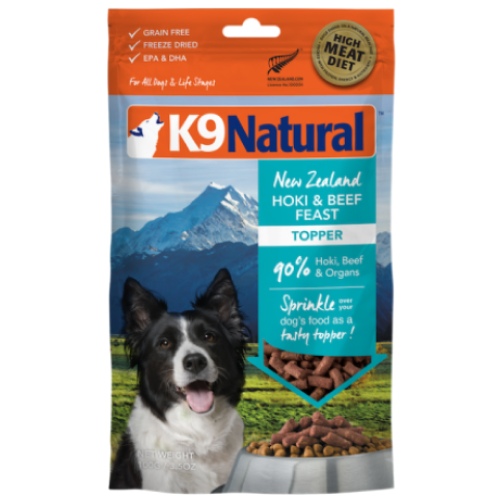 K9 Natural, Dog Food, Freeze Dried, Hoki & Beef