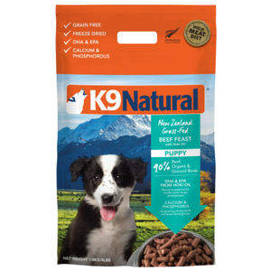 K9 Natural, Dog Food, Freeze Dried, Puppy, Beef & Hoki