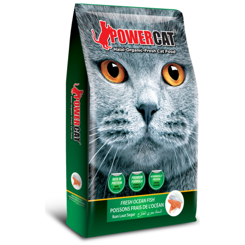 PowerCat, Cat Dry Food, Fresh Ocean Fish (3 Sizes)