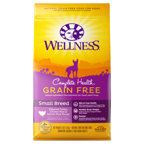 Wellness Complete Health, Dog Dry Food, Grain Free, Small Breed, Deboned Turkey, Chicken & Salmon Meal
