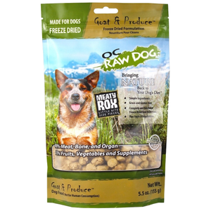 OC Raw, Dog Food, Mixers & Toppers, Freeze Dried, Meaty Rox, Goat