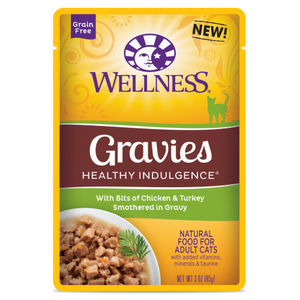 Wellness Complete Health, Cat Wet Food, Grain Free, Healthy Indulgence, Gravies, Chicken & Turkey