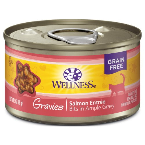 Wellness Complete Health, Cat Wet Food, Grain Free, Gravies, Salmon Entree