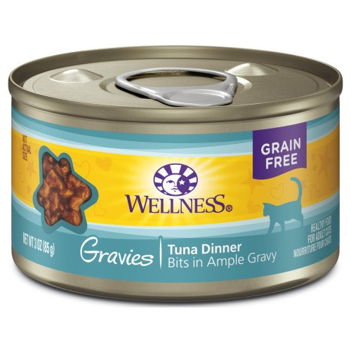 Wellness Complete Health, Cat Wet Food, Grain Free, Gravies, Tuna Dinner
