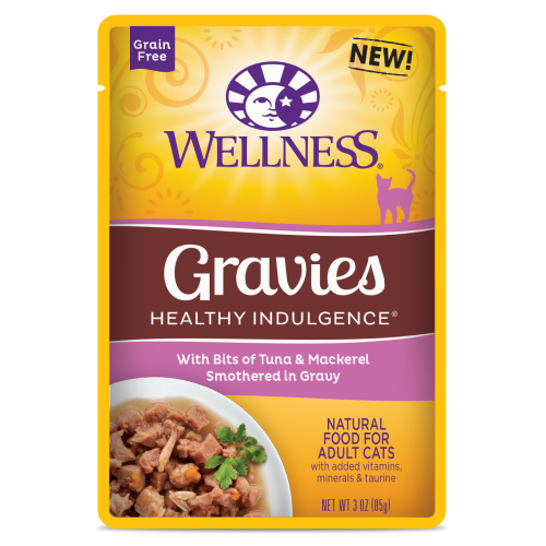 Wellness Complete Health, Cat Wet Food, Grain Free, Healthy Indulgence, Gravies, Tuna & Mackerel