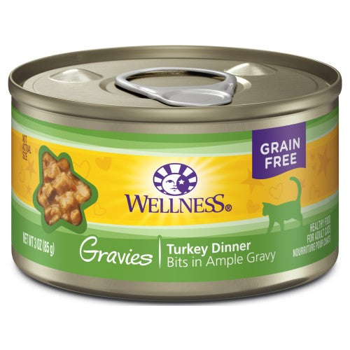 Wellness Complete Health, Cat Wet Food, Grain Free, Gravies, Turkey Dinner