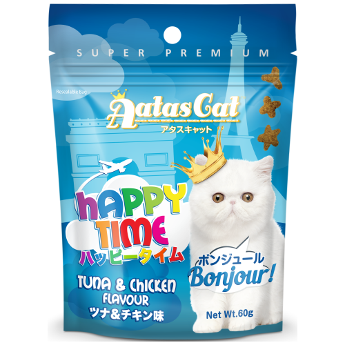 Aatas Cat, Cat Treats, Happy Times, Bonjour, Tuna & Chicken (By Carton)