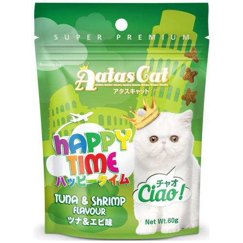 Aatas Cat, Cat Treats, Happy Times, Ciao, Tuna & Shrimp (By Carton)
