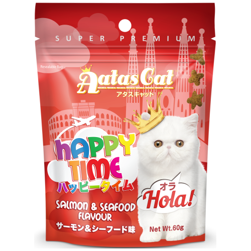 Aatas Cat, Cat Treats, Happy Times, Hola, Salmon & Seafood (By Carton)