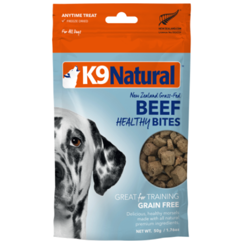 K9 Natural, Dog Treats, Freeze Dried, Healthy Bites, Beef