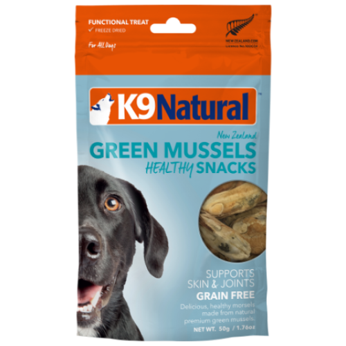 K9 Natural, Dog Treats, Freeze Dried, Healthy Bites, Green Lipped Mussel Snacks